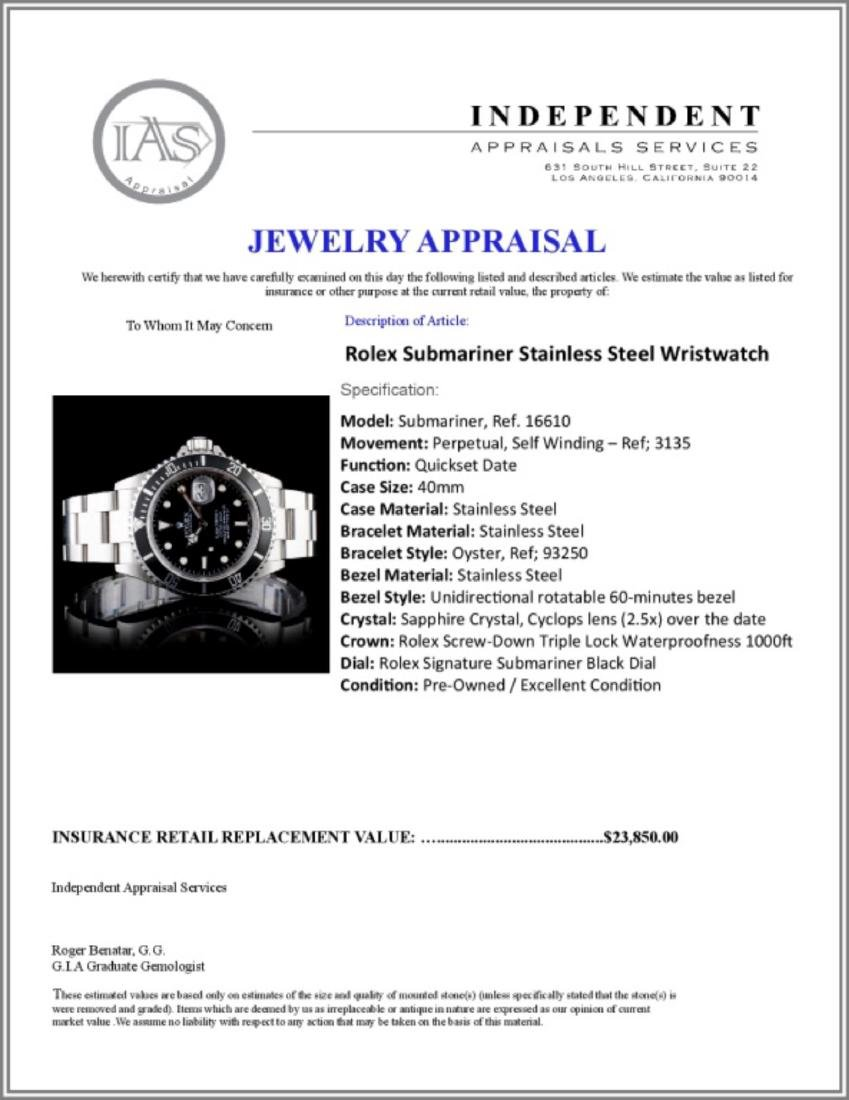 Rolex Submariner Stainless Steel Wristwatch - 5