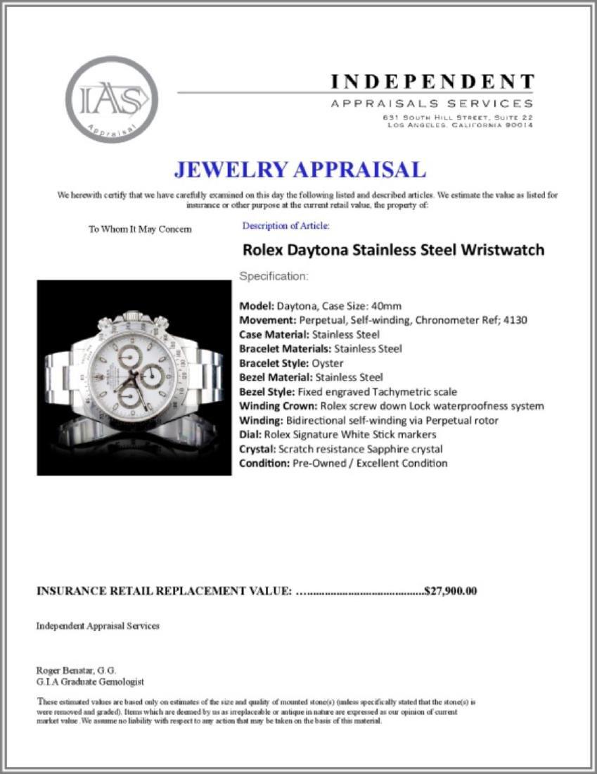 Rolex Daytona Stainless Steel Wristwatch - 5