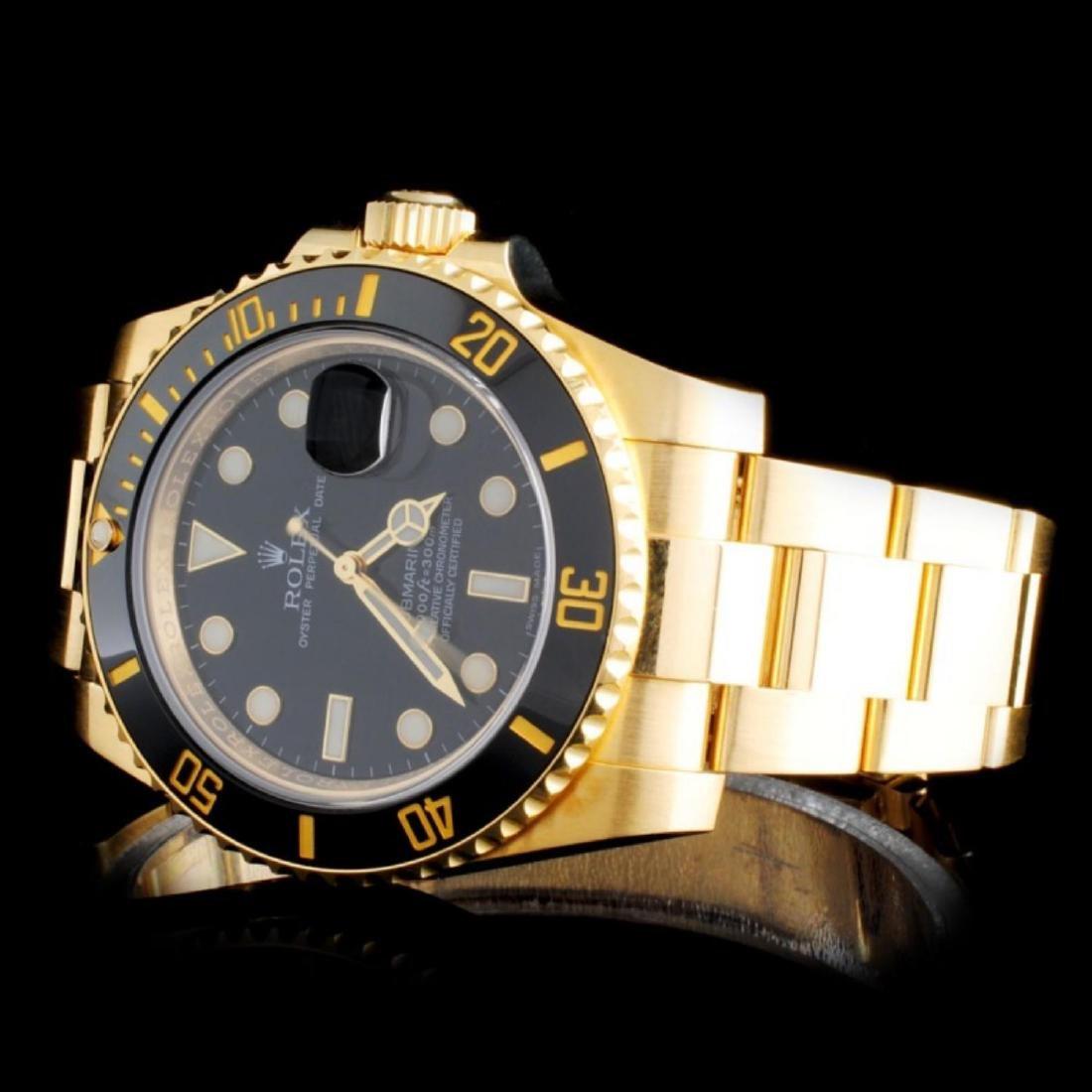 Rolex 18K YG Submariner Men's Watch - 2