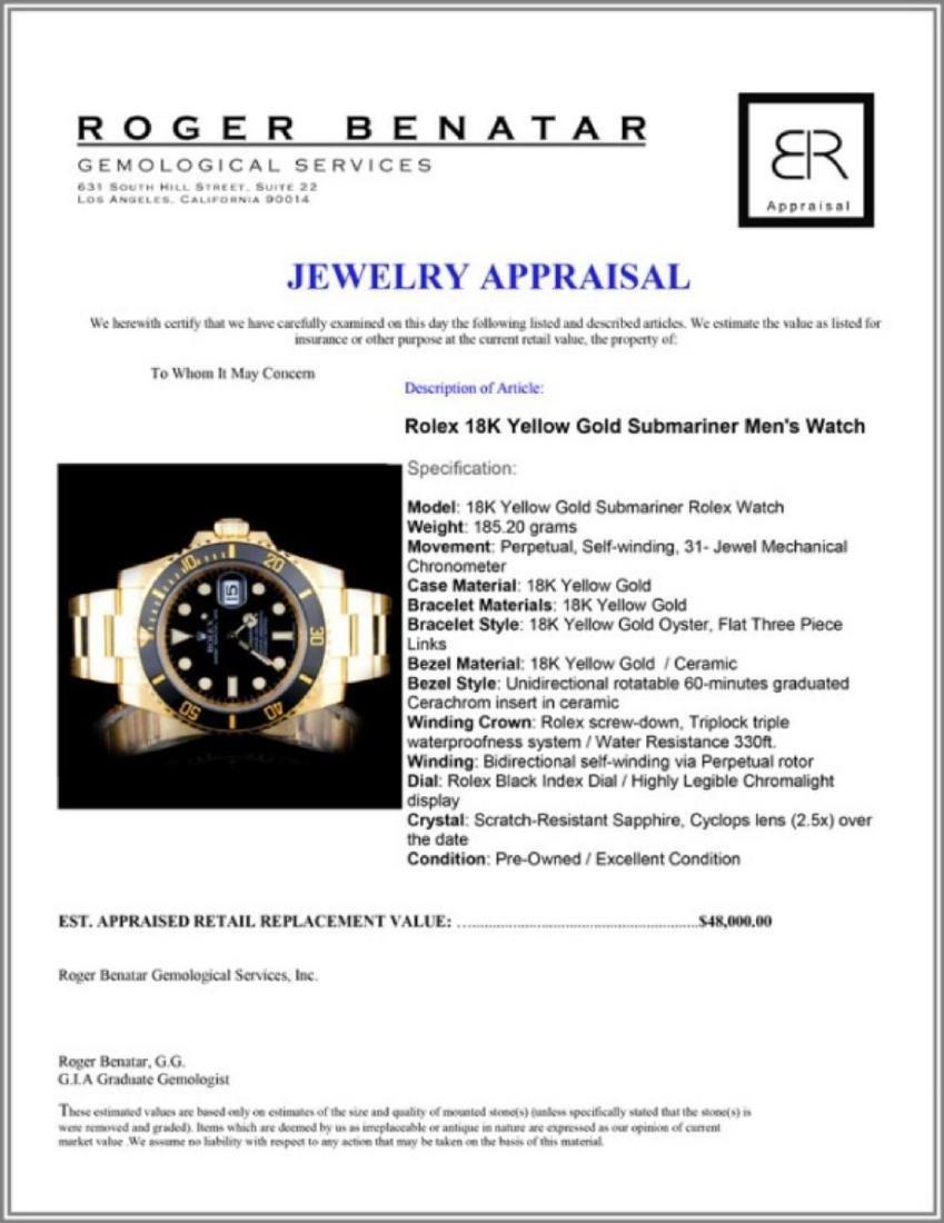 Rolex 18K YG Submariner Men's Watch - 5