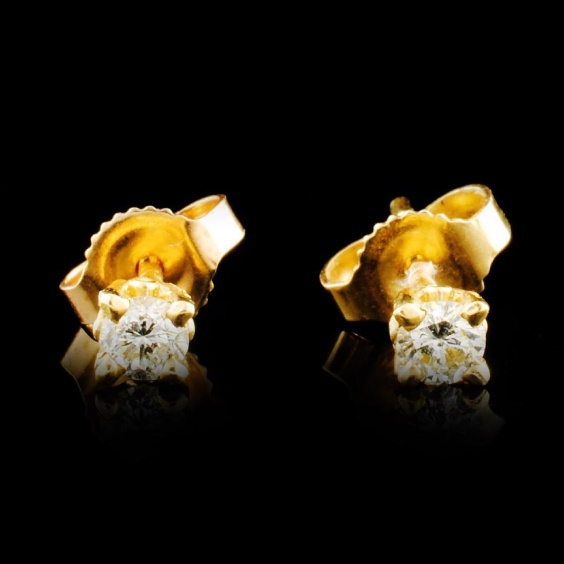 14K Gold 0.16ctw Diamond Earrings