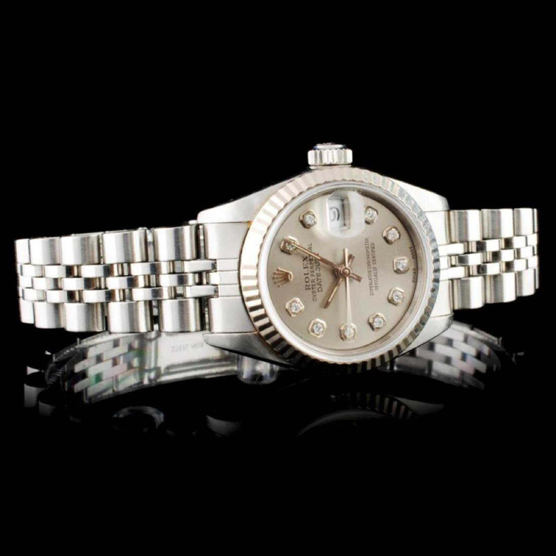 Rolex DateJust 18K & SS Ladies Wristwatch - 2