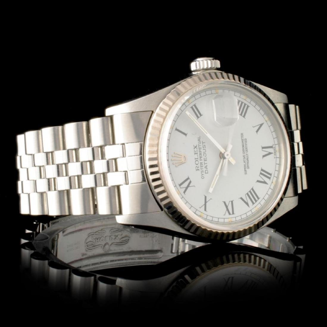 Rolex DateJust 18K & Stainless Steel Watch - 3