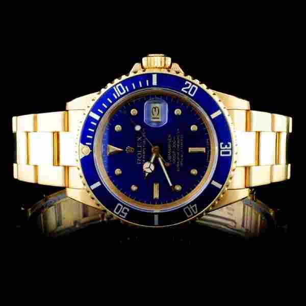 Rolex 18K YG Submariner 40MM Wristwatch