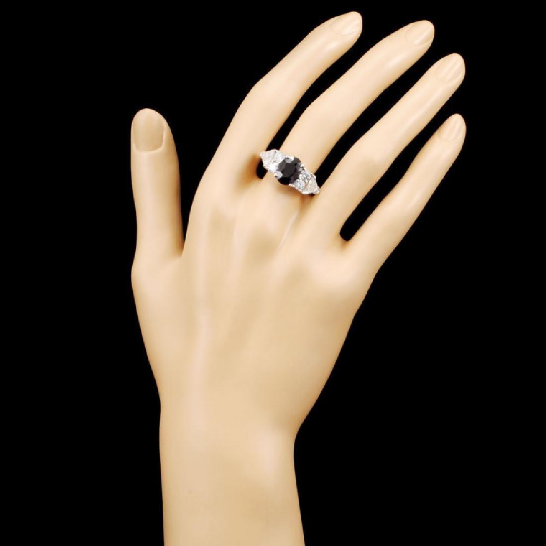 18K Gold 3.08ct Alexandrite & 2.16ctw Diamond Ring - 4