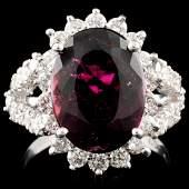 14K Gold 523ct Tourmaline 042ctw Diamond Ring