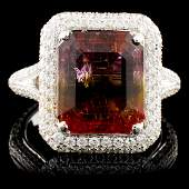 18K Gold 450ct Tourmaline 122ctw Diamond Ring