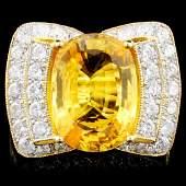 18K Gold 647ct Sapphire 127ctw Diamond Ring