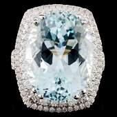 18K White Gold 1387ct Tourmaline 104ct Diamond