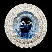 18K Gold 674ct Sapphire 131ctw Diamond Ring