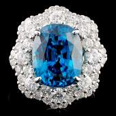18K Gold 1040ct Zircon 205ctw Diamond Ring