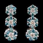 18K Gold 175ctw Diamond Earrings