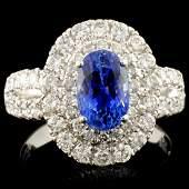 18K Gold 199ct Sapphire 116ctw Diamond Ring