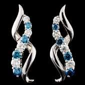 18K Gold 114ctw Diamond Earrings