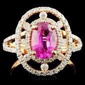 18K Gold 190ct Sapphire 072ctw Diamond Ring