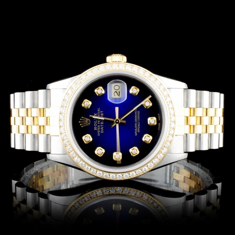 Rolex DateJust YG/SS Diamond 36mm Wristwatc