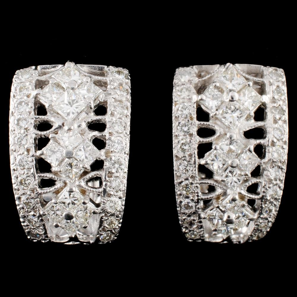 18K Gold 1.75ctw Diamond Earrings