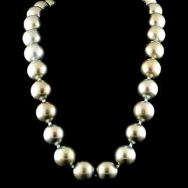 14K Gold 13-16MM Tahitian South Sea Pearl Necklace
