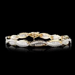 14K Gold 261ctw Diamond Bracelet