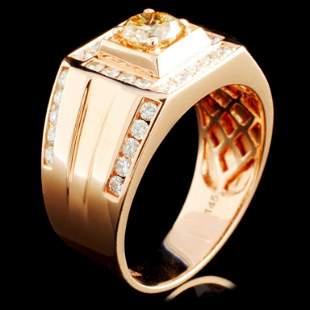 14K Gold 145ctw Fancy Color Diamond Ring