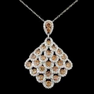 14K Gold 409ctw Diamond Pendant