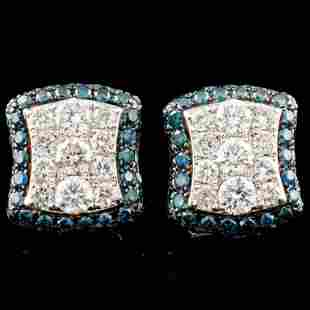 14K Gold 148ctw Diamond Earrings
