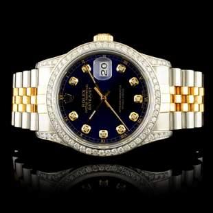 Rolex DateJust 150ctw Diamond 36MM Wristwatch