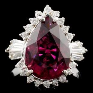 14K Gold 488ct Tourmaline 050ctw Diamond Ring