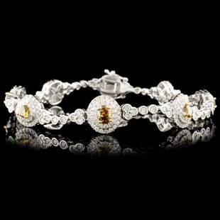 18K Gold 381ctw Fancy Diamond Bracelet