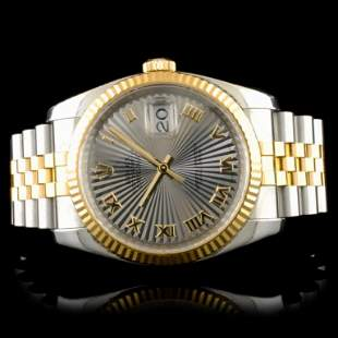 Rolex DateJust 116233 YGSS Fluted 36MM Watch