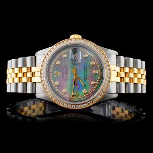 Rolex YGSS DateJust Diamond 36MM Watch