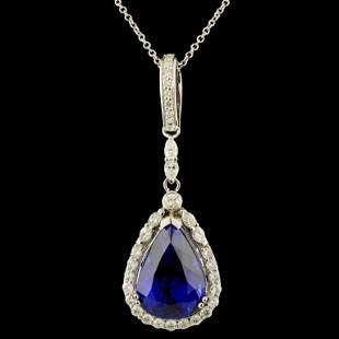 18K Gold 1141ct Tanzanite 102ctw Diamond Penda