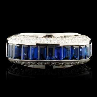 18K Gold 206ct Sapphire 115ctw Diamond Ring