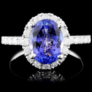 14K Gold 237ct Tanzanite 067ctw Diamond Ring