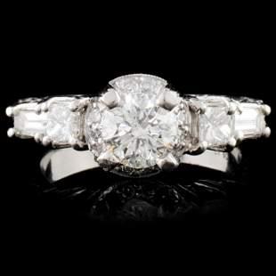 Platinum 135ctw Diamond Ring