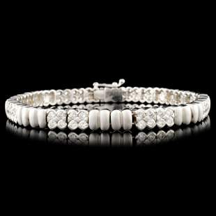 14K Gold 282ctw Diamond Bracelet