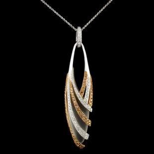 14K Gold 104ctw Diamond Pendant