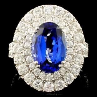 18K Gold 402ct Tanzanite 257ctw Diamond Ring