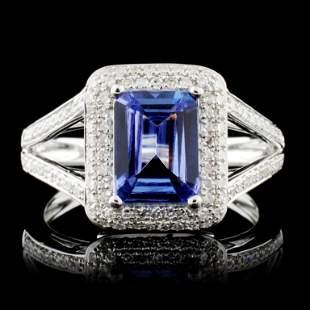 14K Gold 149ct Tanzanite 042ctw Diamond Ring