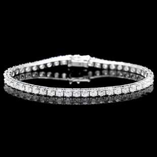 18k White Gold 800ct Diamond Bracelet