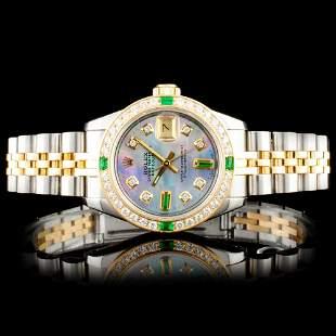 Rolex DateJust YGSS Diamond Wristwatch