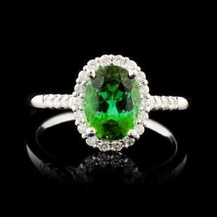14K Gold 158ct Tourmaline 037ctw Diamond Ring