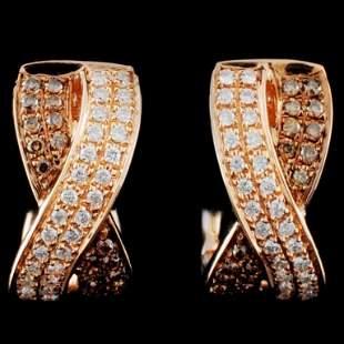 14K Gold 039ctw Fancy Diamond Earrings