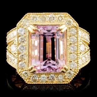 14K Gold 680ct Kunzite 172ctw Diamond Ring