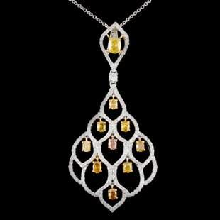 18K Gold 216ctw Fancy Diamond Pendant