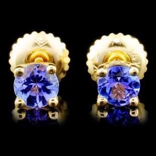 14K Gold 070ctw Tanzanite Earrings