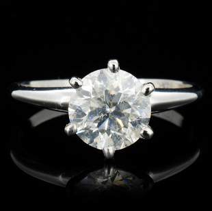 14K White Gold 151ct Diamond Solitaire Ring