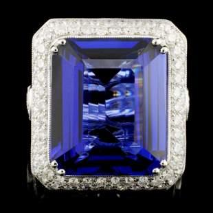18K Gold 2150ct Tanzanite 393ctw Diamond Ring