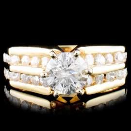 14K Gold 1.33ctw Diamond Ring