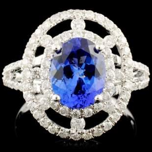 14K Gold 188ct Tanzanite 075ctw Diamond Ring